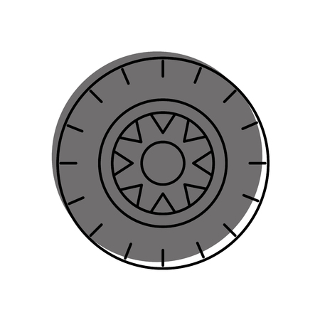 car wheel service concept vehicle maintenance road vector illustration Imagens - 85132159