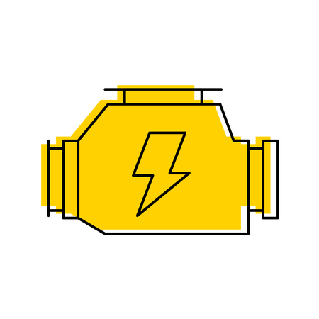 car carburetor powerful engine machine symbol vector illustration 向量圖像