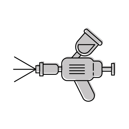 Airbrush auto spray verf apparatuur symbool vectorillustratie Stock Illustratie