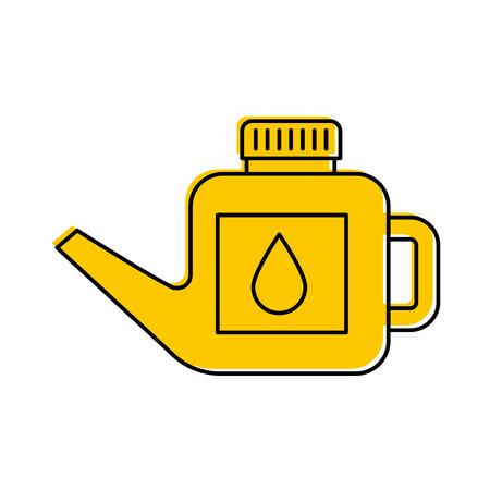 L'essence de bidon de carburant peut gérer l'illustration de vecteur de goutte Banque d'images - 85132169