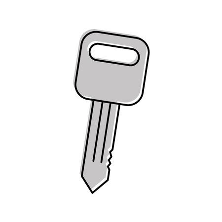 Autoschlüssel Auto-Service Reparatur isoliert Symbol auf weißem Hintergrund Vektor-Illustration Standard-Bild - 85132170