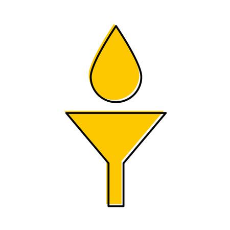 olie vallen in trechter onderhoud auto vector illustratie Stock Illustratie