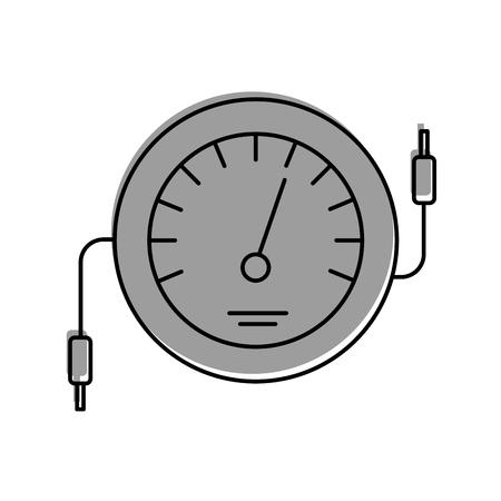 Ilustración de vector de prueba de cable eléctrico de contador de icono de velocímetro Foto de archivo - 85132181