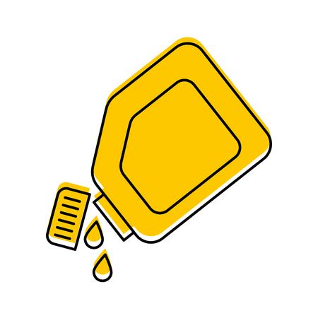 플라스틱 용기 기름 방울 윤활 자동차 벡터 일러스트 레이션
