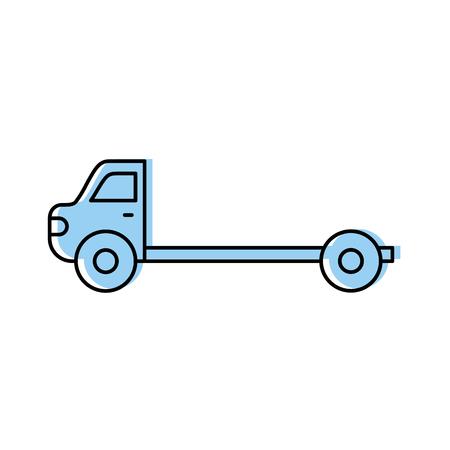 漫画牽引トラック修理輸送支援ベクトル図  イラスト・ベクター素材