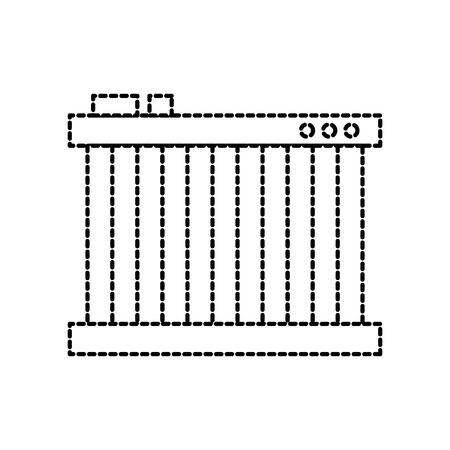 radiator voor het koelen van de auto motor vloeistoffen vector illustratie Stock Illustratie