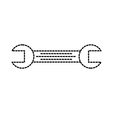 tool wrench repair mechanic equipment icon vector illustration