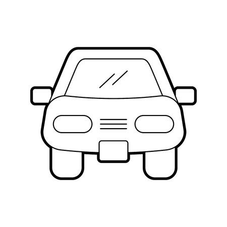 漫画車車両輸送フロントビューアイコンベクトルイラスト