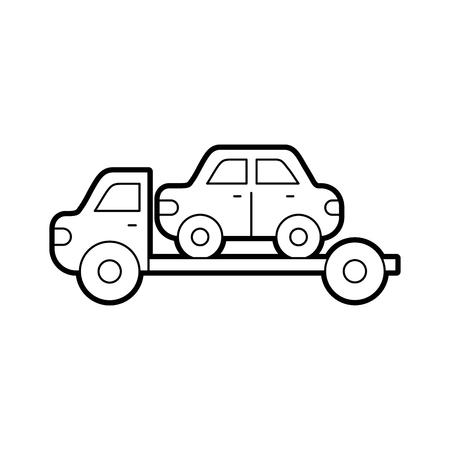 Remorquage camion d & # 39 ; assistance de secours pour la voiture illustration vectorielle Banque d'images - 85132293