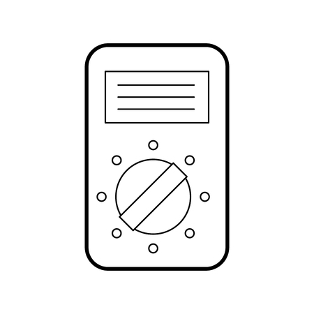 tester device electricity measuring icon vector illustration