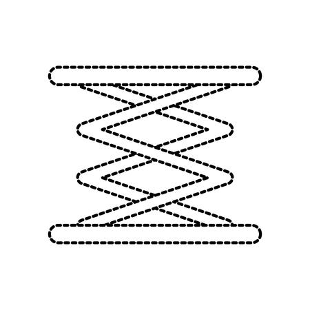 Selbst angetriebene Aufzug hydraulische Maschine Bild Vektor-Illustration Standard-Bild - 85132282
