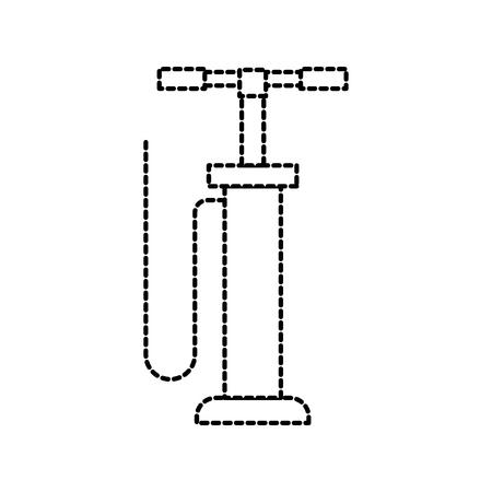 hand pomp auto service auto reparatie druk vector illustratie