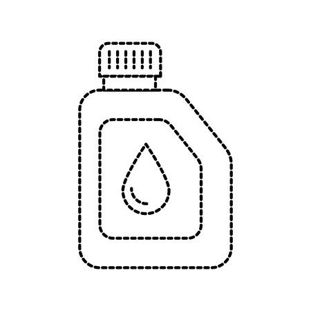 canister engine oil car motor template vector illustration Illustration