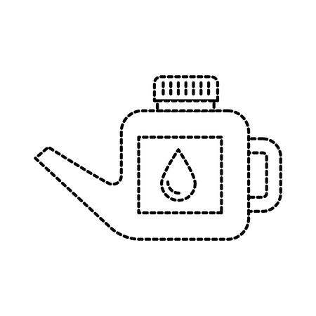 L'essence de bidon de carburant peut gérer l'illustration de vecteur de goutte Banque d'images - 85136558