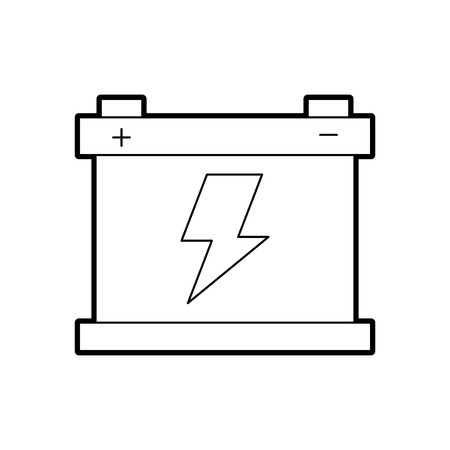 car battery accumulator energy power and electricity icon vector illustration