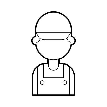 Reparateur ingenieur assistent werker pictogram vector illustratie Stockfoto - 85132728