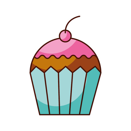 cup cake dessert pastry product food fresh vector illustration Иллюстрация