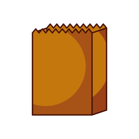 paper bag bakery empty shopping element vector illustration