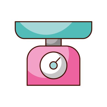 重量スケール メジャー キッチン調理機器のベクトル図