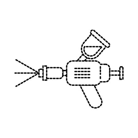 エアブラシ車スプレー塗装装置シンボルベクトルイラスト