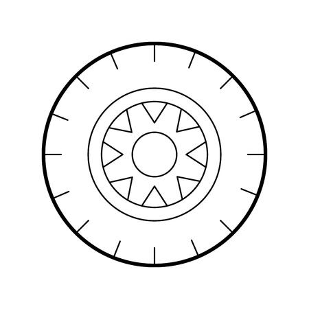 ホイールサービスコンセプト車両メンテナンスロードベクトルイラスト  イラスト・ベクター素材
