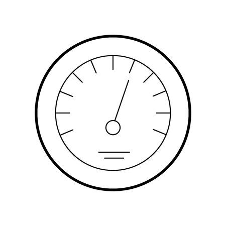 タイマー アイコン スケール インジケーター急成長速度ベクトル図