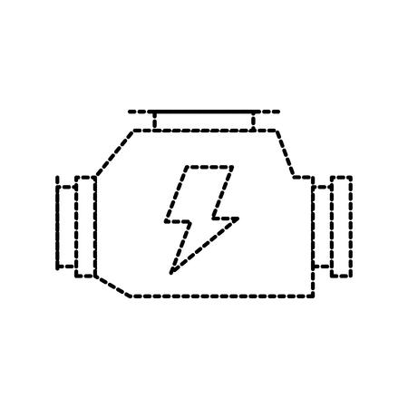 車のキャブレター強力なエンジン マシン シンボル ベクトル図