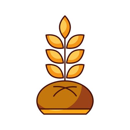 パンと小麦パン菓子製品食品新鮮なベクトル図