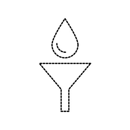 オイル メンテナンス車のベクトル図で漏斗ドロップ  イラスト・ベクター素材