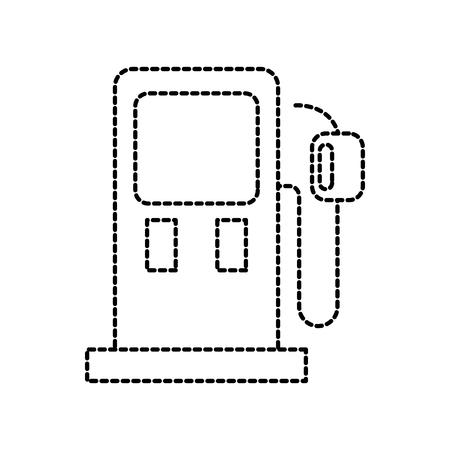 가솔린 펌프 가솔린 연료 장비 디자인 벡터 일러스트 레이션