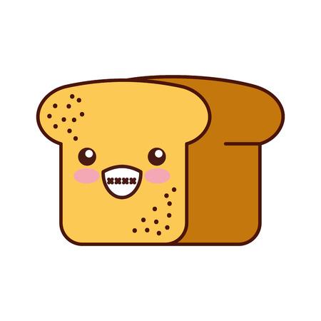 Bäckerei-Backwarenprodukt des Brotweizens frische Vektorillustration Standard-Bild - 85132976