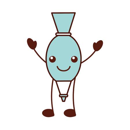 icing bag cartoon kitchen image vector illustration