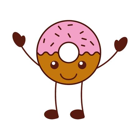 cartoon cute donut dessert food