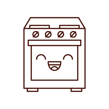 만화 귀여운 난로 오븐 기기