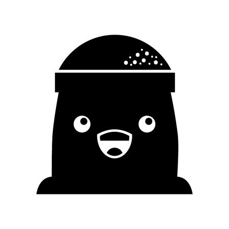 漫画袋小麦粉パン画像ベクトル図  イラスト・ベクター素材
