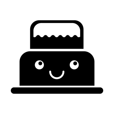 delicious cake cream bakery  character vector illustration