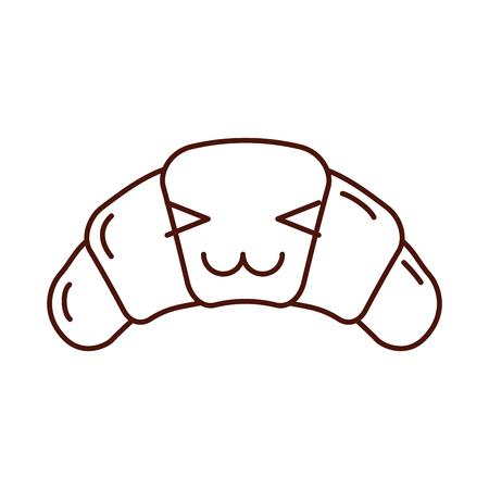 Délicieux croissant pain pain illustration vectorielle Banque d'images - 85135174