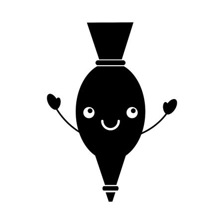 アイシング バッグ漫画キッチン イメージ ベクトル イラスト