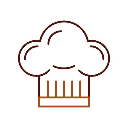 보스 요리사 모자 액세서리 유니폼 엠블럼 벡터 일러스트 레이션