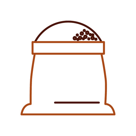 sack of flour grain ingredient bakery icon vector illustration