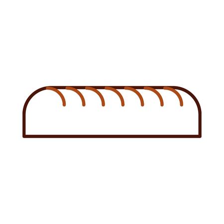 葉ベーカリー菓子製品の新鮮なベクトル イラストをパンします。  イラスト・ベクター素材