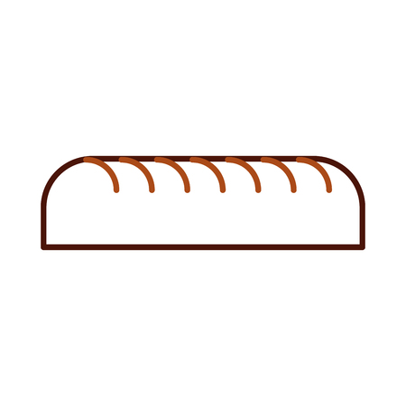 bread leaf bakery pastry product fresh vector illustration
