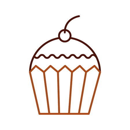 cup cake dessert pastry product food fresh vector illustration Çizim