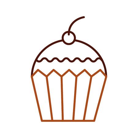cup cake dessert pastry product food fresh vector illustration Illustration