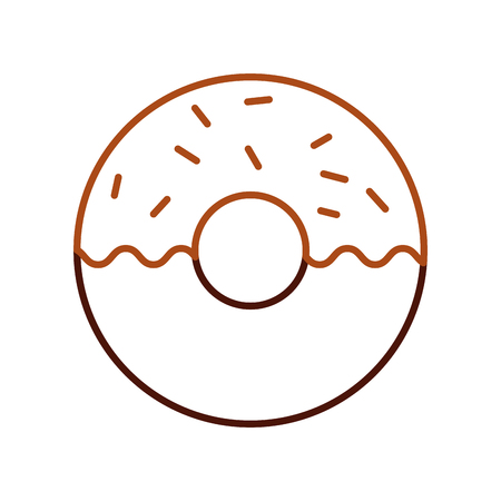 donut dessert pastry product food fresh vector illustration