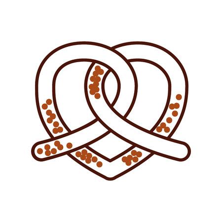 プレッツェル パン菓子製品食品新鮮なベクトル図 写真素材 - 85135816