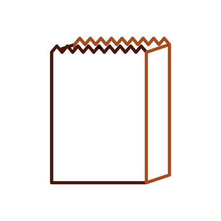 paper bag bakery empty shopping element vector illustration Stock Vector - 85135832
