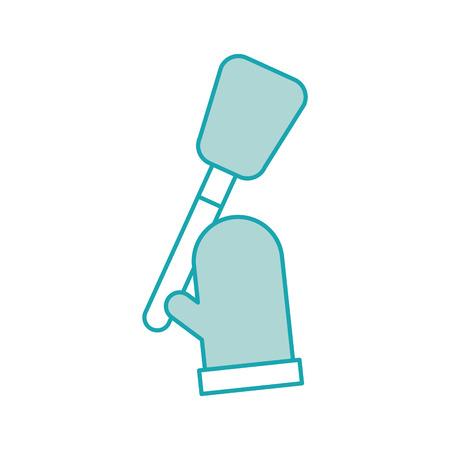 キッチン手袋やスパチュラ菓子要素ベクトル図