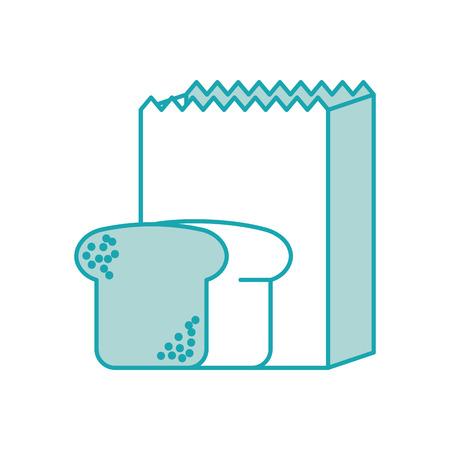 紙バッグ ベーカリーとパン生鮮食品ベクトル図