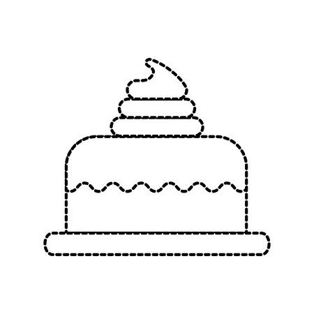甘い焼きケーキ誕生日クリームおいしいベクトル図 写真素材 - 85136216